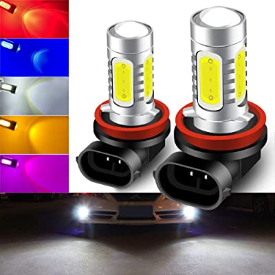 2pcs Cool Xenon White 6500K H11/H8 LED Bulbs for Fog Lights 7.5W COB Fog Lamp Driving DRL Lights 12V: Automotive