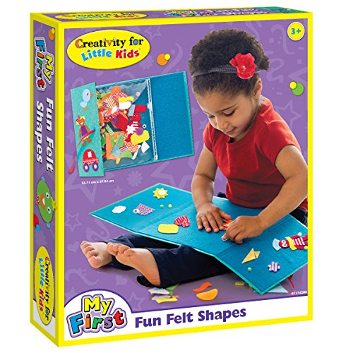 Creativity for Kids My First Fun Felt Shapes - Portable Felt Board for Preschoolers