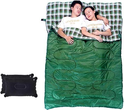 El saco de dormir doble se convierte en franela de algodón 2 ...