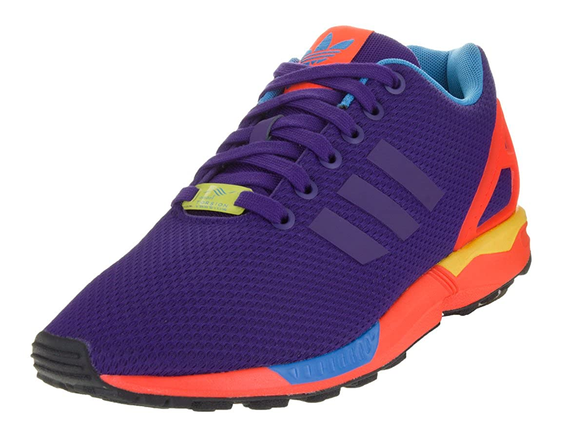 best service 2a027 d3d62 adidas ZX Flux Men s Running Shoes Collegiate Purple Solar Red b34491