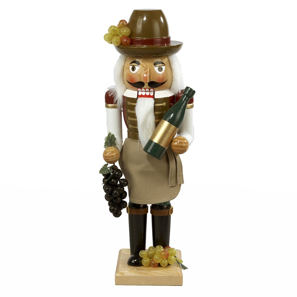 Kurt Adler 15-Inch Wooden Wine Grower Nutcracker