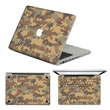Top parte superior de vinilo para portátil de vinilo camuflaje patrón extraíble vinilo adhesivo para MacBook/Pro de 13 pulgadas juego completo para MacBook ...