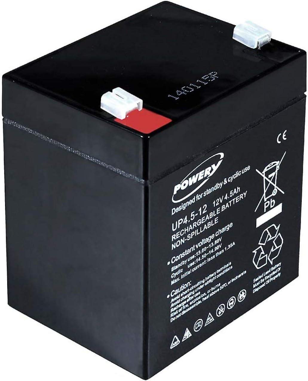 Powery Batería de GEL 12V 4,5Ah