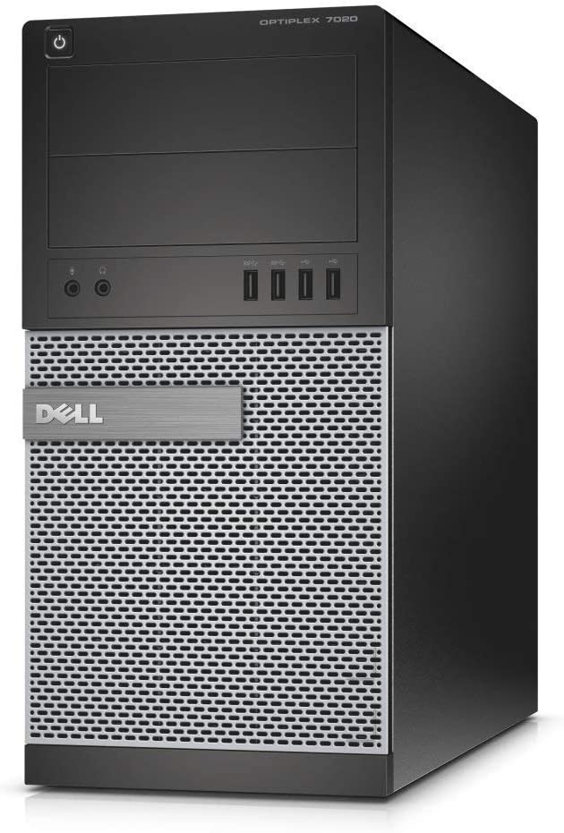 Dell Optiplex 7020 Tower Core i7-4770 3.4GHz 32GB 1TB + 240GB SSD DVD-RW Wi-Fi Win 10 Pro (Renewed)