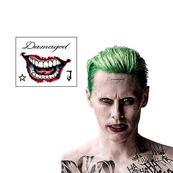 Amazon Com Ss Joker Mr J Face Hand Temporary Tattoos Beauty