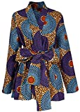 Shenbolen Women African Traditional Batik Print Long Sleeve shirt Dashiki Casual Cotton shirt (XX-Large, Multicolor)