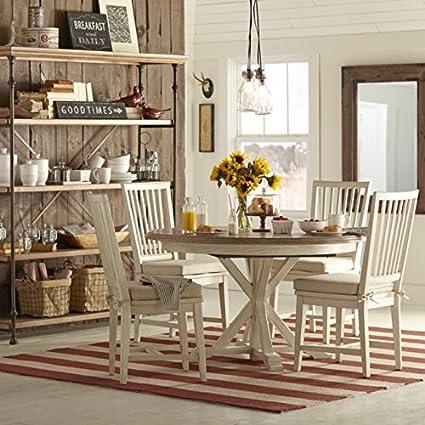 amazon com country kitchen rustic cabin oak wood cottage dining rh amazon com cottage style kitchen table cottage kitchen table set