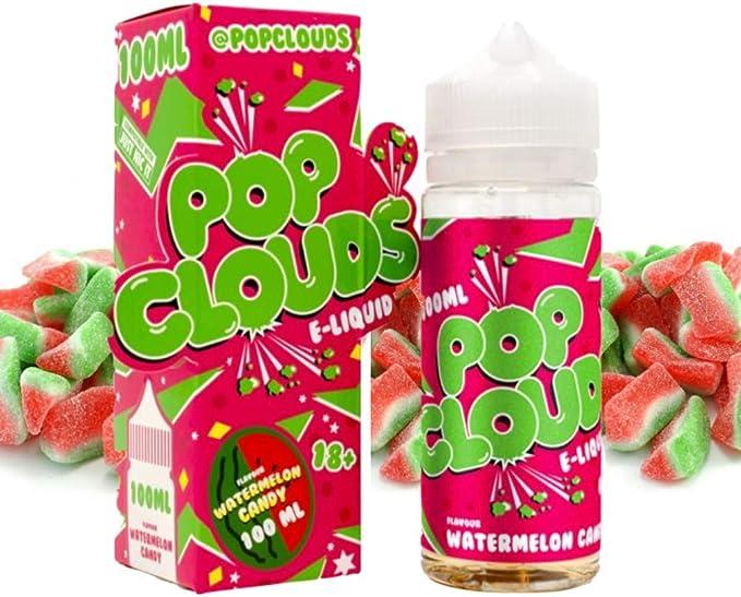 E Liquid POP Clouds Watermelon 100ml - 70vg 30pg - booster shortfill + ELiquid The Boat 10 ml lima limón - Pack de 2 líquidos para cigarrillo electrónico.: Amazon.es: Salud y cuidado personal