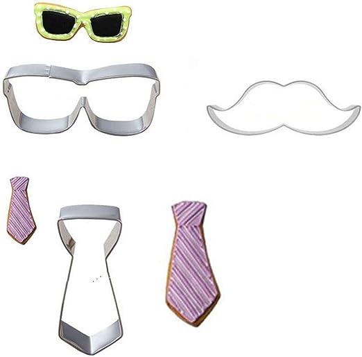 Juego de 3 piezas de corbata de bigote para anteojos de sol, marco ...
