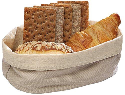 Paderno World Cuisine 42876-25 Oval Canvas Bread Basket, Beige by Paderno World Cuisine (Image #1)