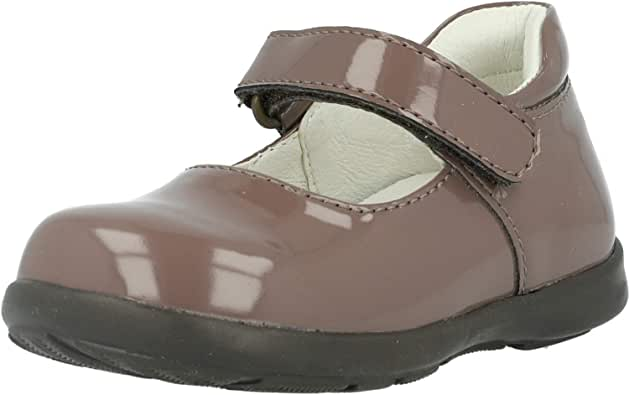 Primigi Andes Taupe Patent Infant Mary Jane Shoes