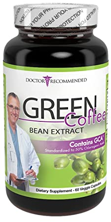 Green Coffee Bean Extract - Doctor Recommended - 1600mg daily (60/800mg Veggie Diet Pills)-Standardized to Pure 50% Chlorogenic Acid - 100% Natural Weight Loss Supplement-30 Day Supply