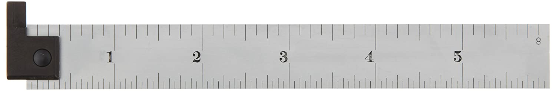 Starrett CH604R-6 6 2-Sided Steel Ruler with Hook