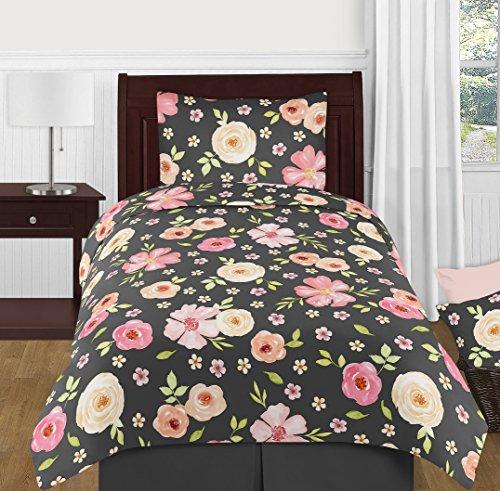 Sweet Jojo Designs Shabby Chic Watercolor Floral Girl Twin K
