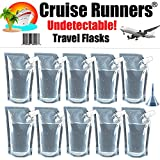 CRUISE RUNNERS Brand Ship Kit Flask 10 32oz Sneak Alcohol Runner Rum Liquor Smuggle Booze Runners 10 x 32oz