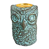 NOVICA 'Green Thai Owl' Recycled Paper Tealight Candleholder