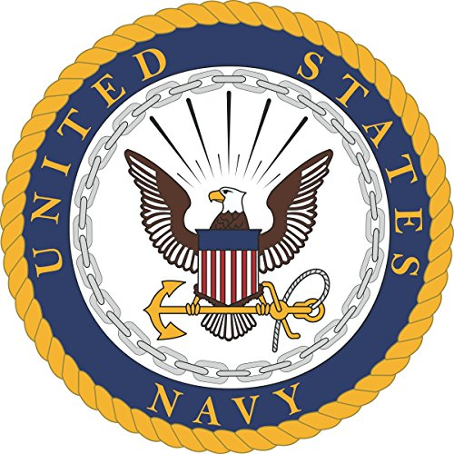 US Navy United States Navy U.S. Navy Seal Military Veteran Served Window Bumper Sticker Vinyl Decal 3.8