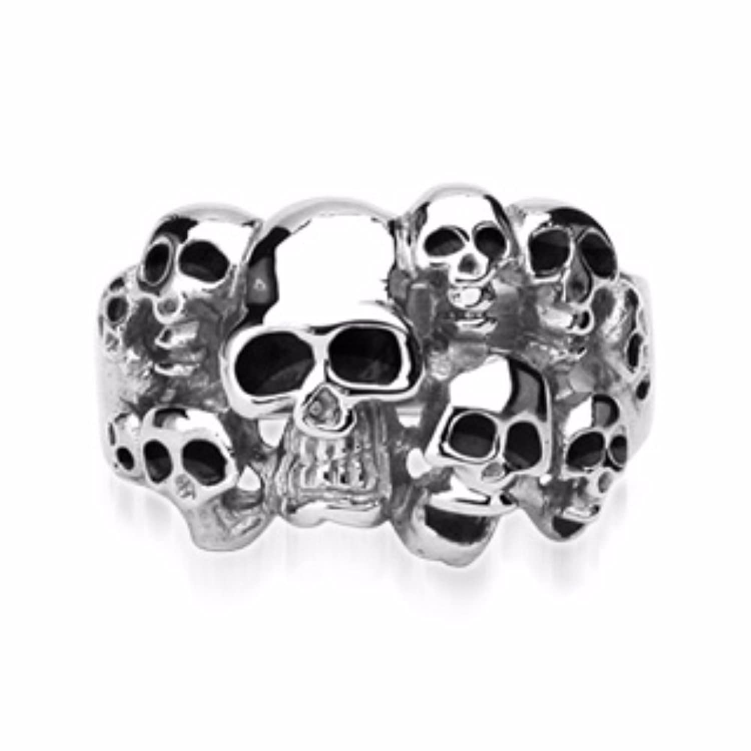 10 Skulls Ring 316L Surgical Stainless Steel