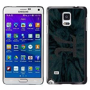 Smartphone Rígido Protección única Imagen Carcasa Funda Tapa Skin Case Para Samsung Galaxy Note 4 SM-N910F SM-N910K SM-N910C SM-N910W8 SM-N910U SM-N910 chisla ryad stroka pi matematika / STRONG