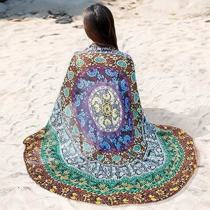 SAIBANGZI Mujeres Nieve Hilado Toalla Ronda Nieve Spinning Toalla Mujer Primavera y Otoño Protector Solar Mantón