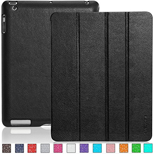 Invellop Leatherette Smart Cover case for iPad 4, The New iPad 3 and iPad 2