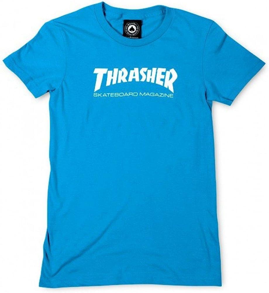 THRASHER Camiseta Mujer Skate mag Logo Teal