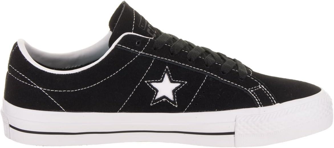 Converse Skate One Star Pro Ox Suede Fitnessschoenen, uniseks, zwart Zwart Wit 001