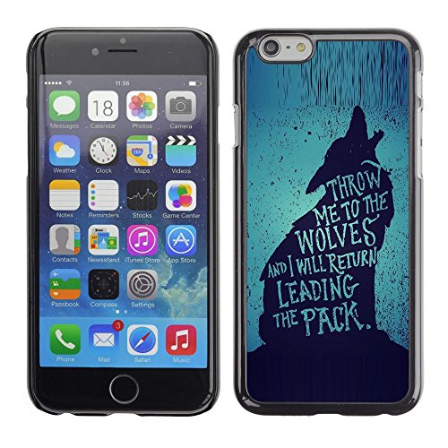 A-type Colorful Printed Hard Protective Back Case Cover Shell Skin for Apple (5.5 inches!!!) iPhone 6+ Plus / 6S+ Plus (Wolf Lead The Pack Brave Heroic Text)