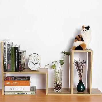 Zerone DIY Escritorio de estante, estantería de almacenaje, organizador de mesa de aglomerado (Blanco, color negro, madera): Amazon.es: Juguetes y juegos