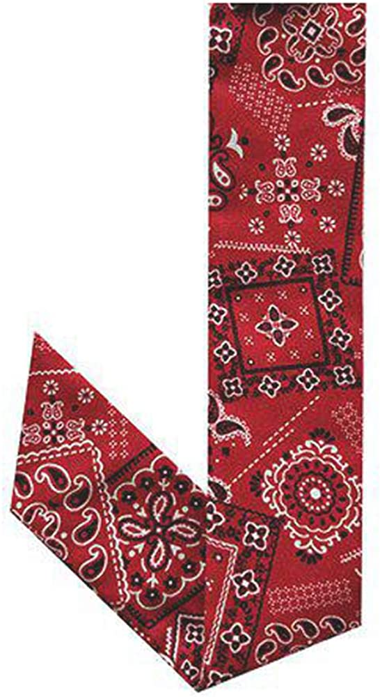 Blubandoo Water Activated Evaporative Neckbandoo Cool Tie. New Red Bandana Print. Over 150 USA Made Cooling Bandana Scarf Prints for Men And Women Heat Relief.