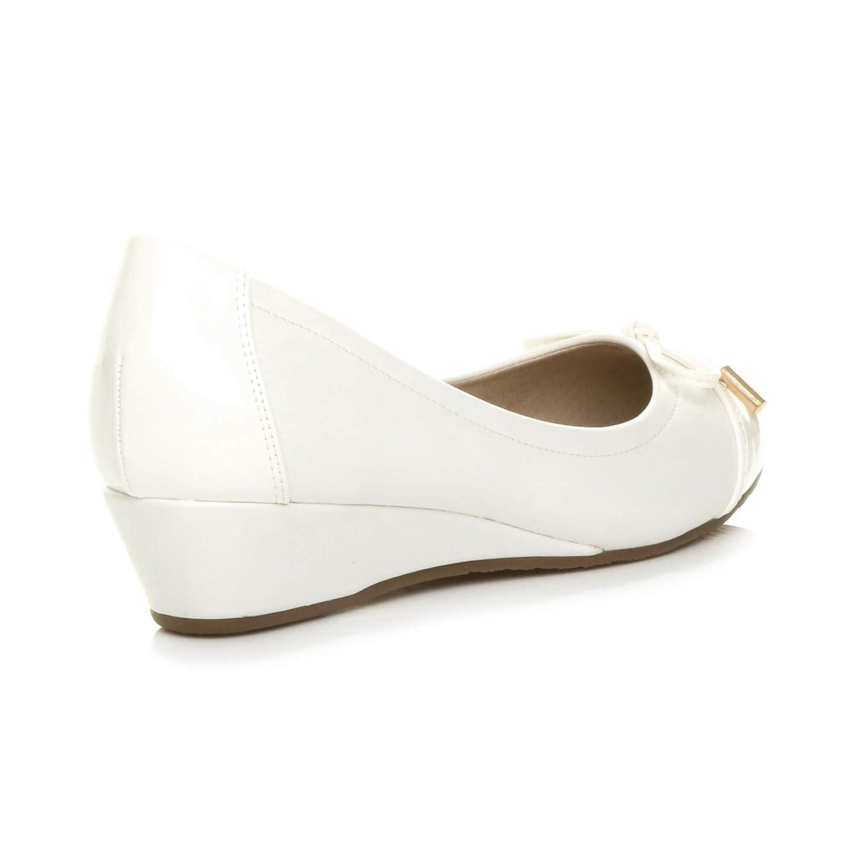 Femmes Talon compens/é mi-Bas /él/égant Ballerine Chaussures Escarpins Pointure