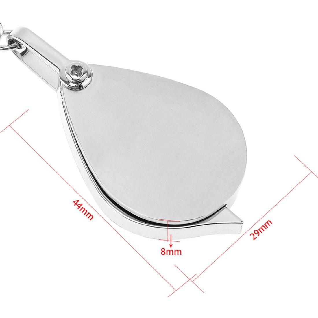 Amazon.com: Mini lupa portátil nuevo llavero lupa 8 X ...