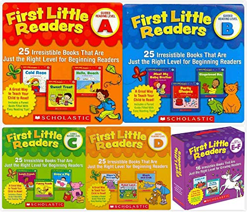 - First Little Readers Parent Packs Complete Set (5 packs) - Guided Reading Level A, B, C, D, E&F
