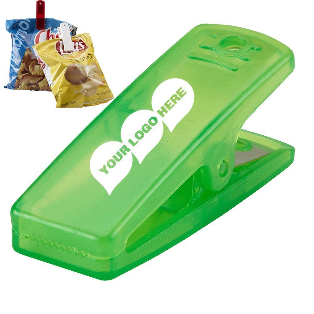 Snack-in Clip - 250 Quantity - $0.95 Each - PROMOTIONAL PRODUCT / BULK / BRANDED with YOUR LOGO / CUSTOMIZED. Size: 1''H x 2-3/4''W x 1-1/8''D