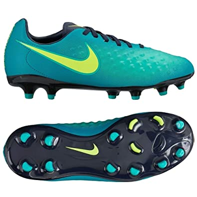 aec573cafca6 Nike Kids Magista Opus II FG Rio Teal Volt Obsidian Clear Jade Soccer