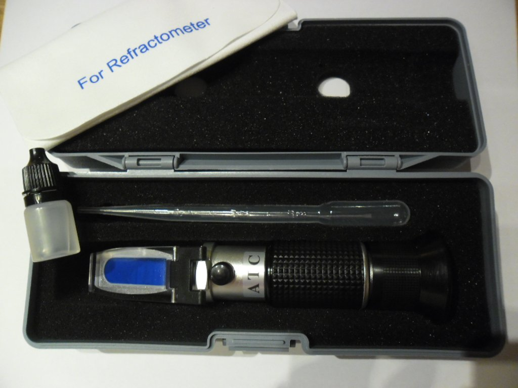 Rifrattometro per auto protezione antigelo Tester Batterie acido parabrezza acqua 3001 con liquido di calibrazione FSR