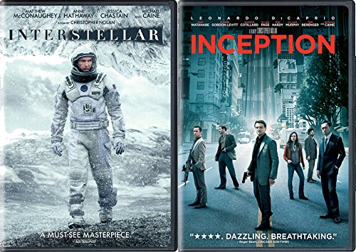 Christopher Nolan Sci-Fi Set - Interstellar & Inception 2-Movie Bundle