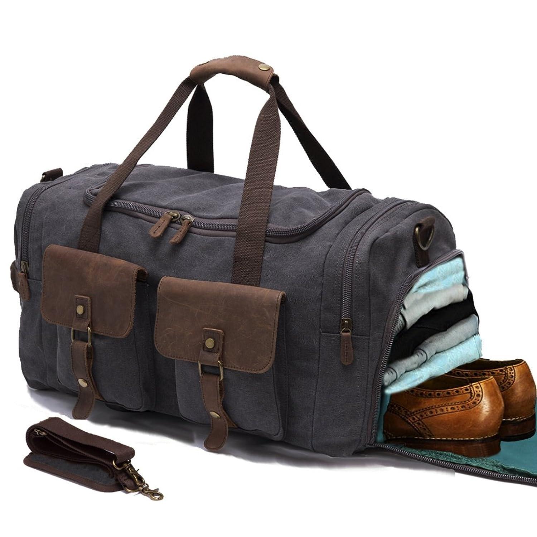 amazon com cutter and buck club duffel leather lining u0026 canvas