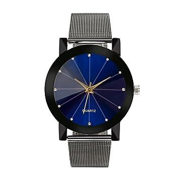 Amazon.com: Clearance. Hombre Slim reloj banda de acero ...