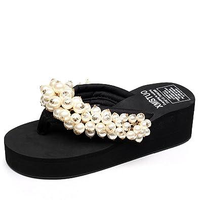 e70e84e76d7e Women s Slippers Summer Sandals Girls Sweet Slopes Flip-Flops Beach Casual  Shoes Slim Roman Shoes