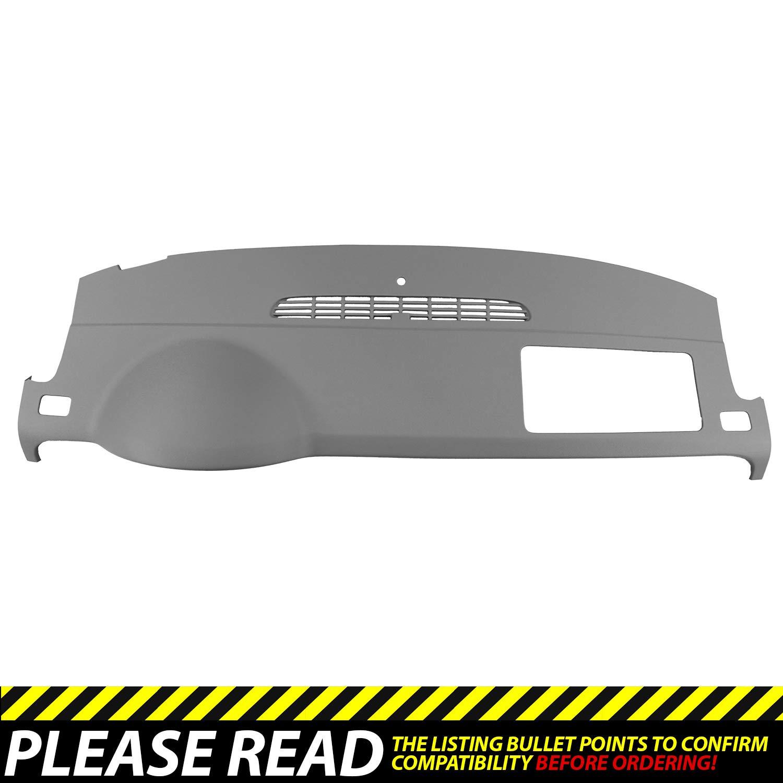 DashSkin Molded Dash Cover Compatible with 07-14 GM SUVs w/o Dash Speaker in Dark Titanium