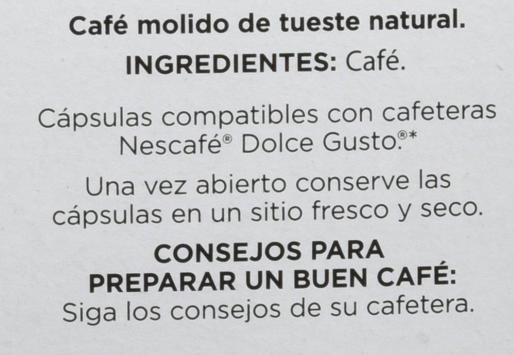Cafés Baqué Cápsulas Compatibles Dolce Gusto Intenso - 70 gr - [Pack de 4]