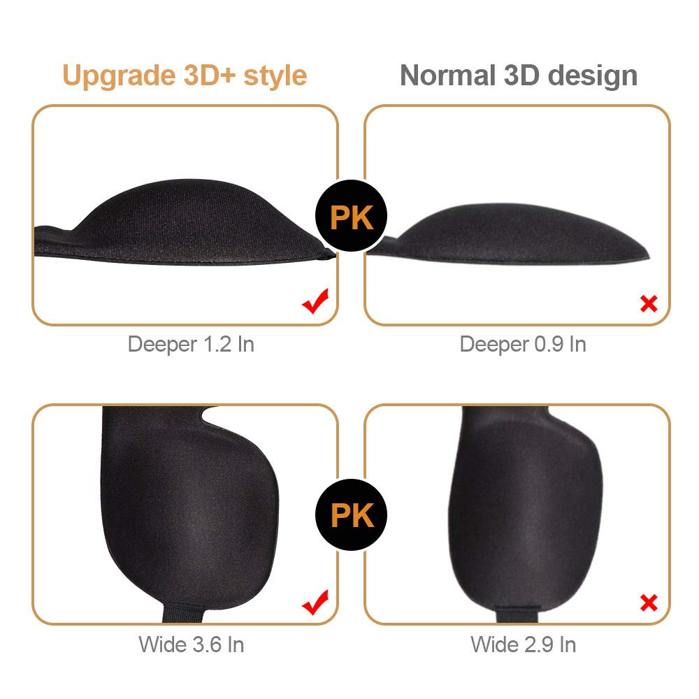 Deeper Softer Lighter and Smoother Best for Traveling Napping Black+Drawing Eye Mask for Sleeping Unimi Upgraded Sleep Mask Blindfold 3D Contoured Comfortable Eye Patch 100/% Blackout