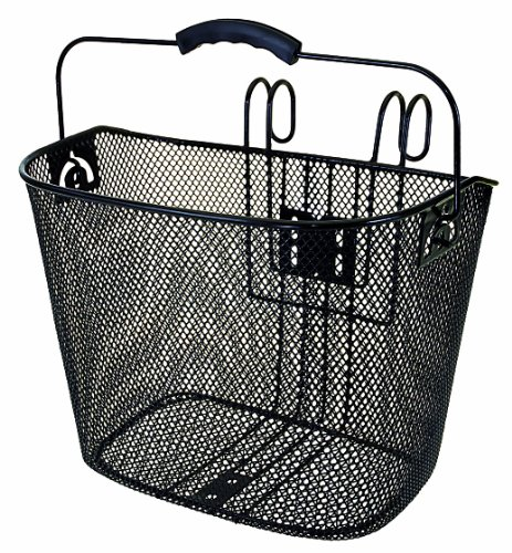 Ventura Quick Mount Wire Mesh Basket for Bicycles, Standard Handlebar Fit, with Comfort Handle for Convenient (Scooter Basket)