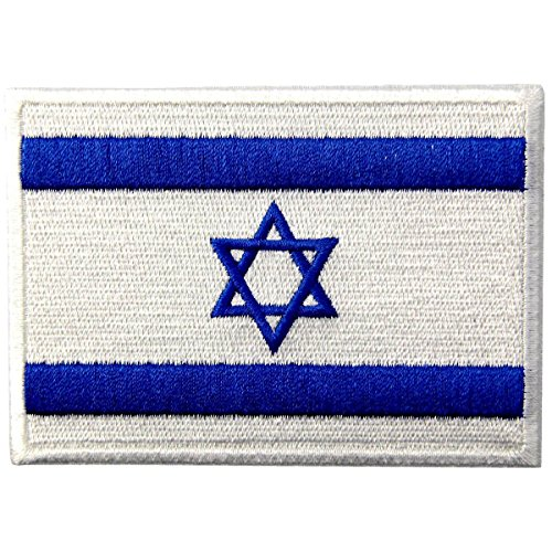 - Israel Flag Embroidered Israeli National Emblem Jewish Star of David Iron On Sew On Patch
