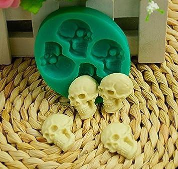 Sel-More Moldes de Silicona 3D de Calavera de Halloween para ...