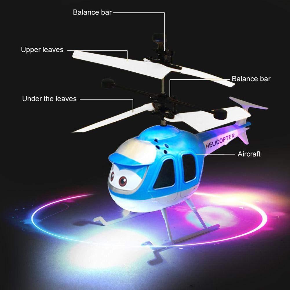 con LED Mini dron para ni/ños con control manual y bola de inducci/ón por infrarrojos CHwares
