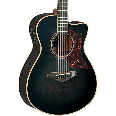 Yamaha A Series AC3 - Guitarra acústica acústica (tamaño compacto, color negro translúcido,