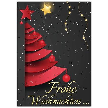 Frohe Weihnachten Text Karte.A4 Xxl Weihnachtskarte Weihnachtsbaum Mit Umschlag Edle Klappkarte Fur Liebe Kollegen Freunde Verwandte Frohe Weihnachten Karte Von Breitenwerk