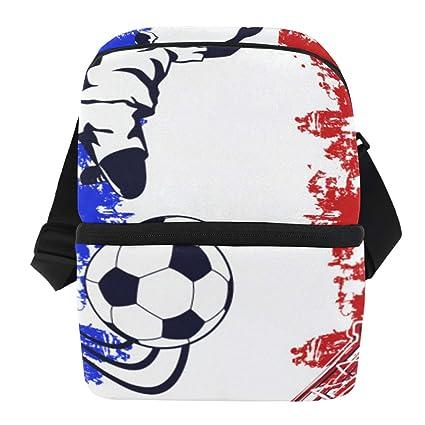 b5204efcc0b2 Amazon.com: MAHU Business Lunch Bag Soccer France Flag Eiffel Tower ...